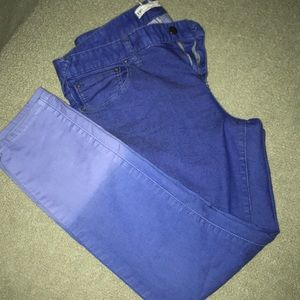 Free People ombré electric blue skinny jeans